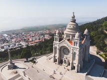 Free Aerial View Of Viana Do Castelo, Norte Region, Portugal, With Basilica Santa Luzia Church, Shot From Drone Royalty Free Stock Photos - 168754588