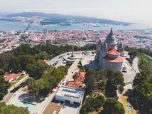 Free Aerial View Of Viana Do Castelo, Norte Region, Portugal, With Basilica Santa Luzia Church, Shot From Drone Royalty Free Stock Photo - 168754605