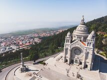 Free Aerial View Of Viana Do Castelo, Norte Region, Portugal, With Basilica Santa Luzia Church, Shot From Drone Stock Photos - 168754613