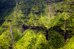 Free Aerial View Of Water Streams, Waterfalls And Lush Landscape, Kauai Royalty Free Stock Photography - 90240967