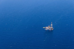 Aerial View of Offshore Jack Up Drilling Rig Royalty Free Stock Image