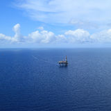 Aerial View of Offshore Jack Up Drilling Rig Stock Photography