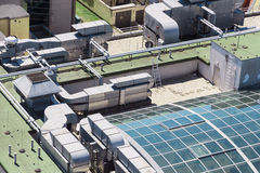 Aerial view ofmodern building. Royalty Free Stock Images