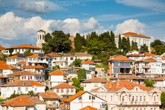 Aerial view of Ohrid Stock Image