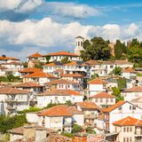 Aerial view of Ohrid Stock Photos