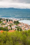 Aerial view of Ohrid Royalty Free Stock Images