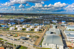 Aerial view on oil pumping station. Tyumen. Russia Stock Photography