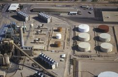 Aerial view of oil refinery Royalty Free Stock Photography