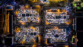 Aerial view oil refinery Royalty Free Stock Image