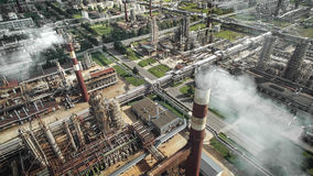 Aerial view of oil refinery plant Stock Image