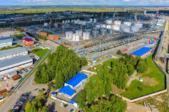 Aerial view on oil refinery plant. Tyumen. Russia Royalty Free Stock Photos