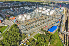 Aerial view on oil refinery plant. Tyumen. Russia Stock Photo