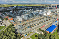 Aerial view on oil refinery plant. Tyumen. Russia Royalty Free Stock Photography