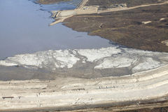 Aerial view of oils sands Alberta Royalty Free Stock Photo