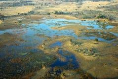 Aerial view of the Okavango delta, Botswana Royalty Free Stock Photography