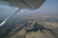 Aerial view of the Okavango Delta Royalty Free Stock Images
