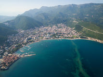 Aerial View of Old Budva in Montenegro. Royalty Free Stock Image