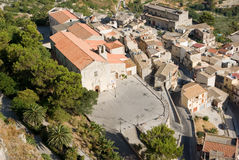 Aerial view of old Calatabellotta village Royalty Free Stock Images
