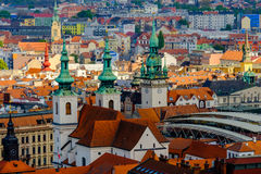 Aerial view of old city Royalty Free Stock Photography
