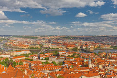 Aerial view of old city center of Prague Stock Photography