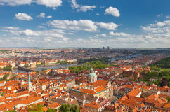 Aerial view of old city center of Prague Stock Images