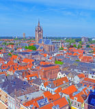 Aerial View of Old City, Delft, Holland Stock Photography