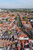Aerial View of Old City, Delft, Holland Royalty Free Stock Image