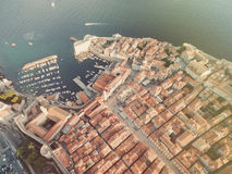 Aerial view of old city of Dubrovnik (Croatia). Stock Photos