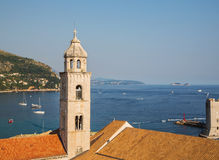 Aerial View on the Old City of Dubrovnik, Croatia Stock Image