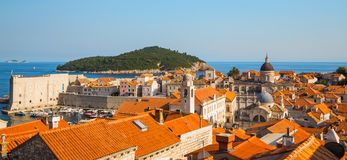 Aerial View on the Old City of Dubrovnik, Croatia Stock Photo