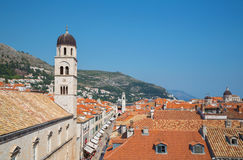Aerial View on the Old City of Dubrovnik, Croatia Royalty Free Stock Photography