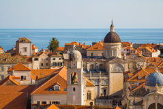 Aerial View on the Old City of Dubrovnik, Croatia Royalty Free Stock Image
