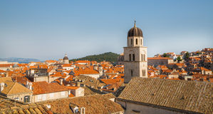 Aerial View on the Old City of Dubrovnik, Croatia Royalty Free Stock Photos
