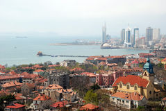 Aerial view of Old City in qingdao Royalty Free Stock Photos