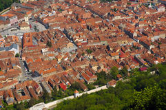 Aerial view of the old European city of Brasov, Romania Stock Photo
