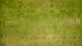 Aerial view of an old football court Stock Images
