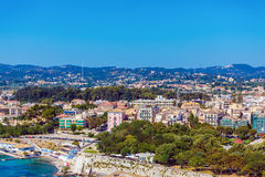 Aerial view from Old fortress on the city with  New Fortress, Ke Royalty Free Stock Image