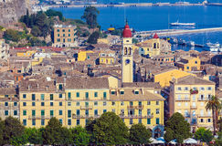 Aerial view from Old fortress on the city with  New Fortress, Ke Royalty Free Stock Photography