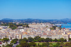 Aerial view from Old fortress on the city with  New Fortress, Ke Royalty Free Stock Photos