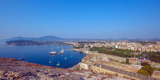 Aerial view from Old fortress on the city with  New Fortress Royalty Free Stock Photos