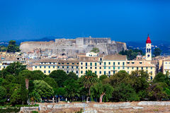 Aerial view from Old fortress Corfu Royalty Free Stock Image