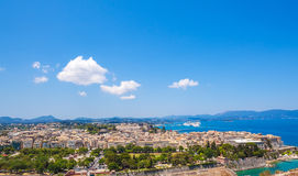 Aerial view from Old fortress, Corfu Stock Photos