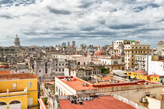 Aerial view of Old Havana Royalty Free Stock Images
