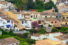 Aerial view of the old municipality of Capdepera as seen from the Castle wall. Island Majorca, Spain. Royalty Free Stock Photography
