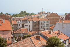 Aerial view of the old Pomorie, Bulgaria Royalty Free Stock Photo