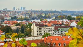 Aerial view of Old Praha, Czech royalty free stock image
