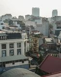 Aerial view of Old Quarter of Hanoi, Vietnam royalty free stock images