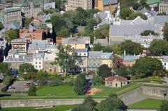 Old Quebec City aerial view, Canada Stock Photos