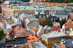 Aerial view of the old Riga city Royalty Free Stock Photo