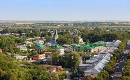 Aerial view of the old Russian town of Suzdal. Golden Ring, Russia Royalty Free Stock Image